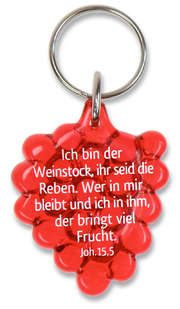 """Schlüsselanhänger """"Weintraube"""" - rot"""