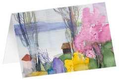"""Kunstkarten """"Baumblüte am See"""" - 5 Stück"""