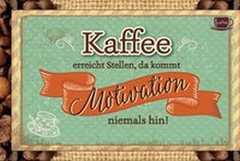 Kaffeekarte - Kaffee erreicht Stellen,...