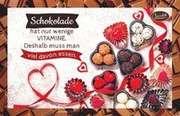Schokokarte - Schokolade hat nur wenige Vitamine.