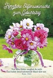 Faltkarte: Herzliche Segenswünsche zum Geburtstag