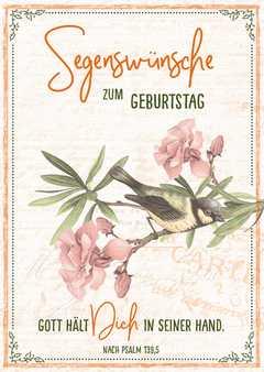 """Postkartenserie """"Segenwünsche / Vogel"""" - 12 Stück"""