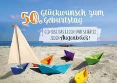 Faltkarte - Glückwunsch zum 50. Geburtstag.