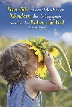 Faltkarte: Freu dich an den kleinen Wundern - Neutral