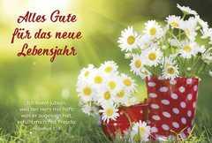Faltkarte: Alles Gute für das neue Lebensjahr