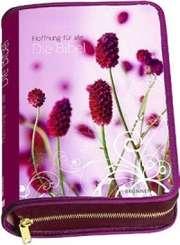 """Bibelhülle Hoffnung für alle  """"Flower Edition I, pink"""""""