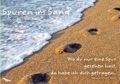 Spuren im Sand - Faltkarte