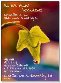 Postkarten: Du bist etwas Besonderes, 12 Stück - Ruth Heil