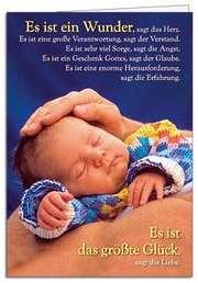 Faltkarte: Es ist ein Wunder - Geburt