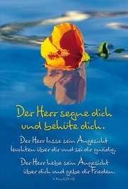 Faltkarte: Der Herr segne dich - Geburtstag