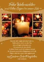 Faltkarte: Das alte Jahr - Weihnachten