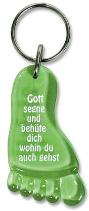 "Schlüsselanhänger ""Fuß"" - grün"